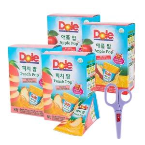 Dole 후룻팝 피치2박스+애플2박스 총32입+증정