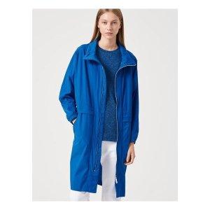 빈폴스포츠   빈폴 스포츠  블루 여성 펀칭 롱 윈드 브레이커 재킷 (BO9739E01P