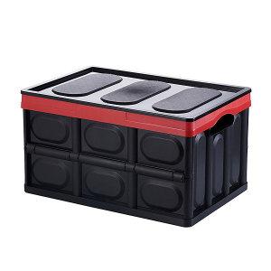 자동차 트렁크 정리함 접이식 수납함 (30리터 블랙)