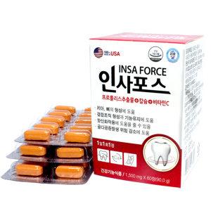 인사포스 치아 잇몸 도움 칼슘 이가 탄탄한 1500mg60정