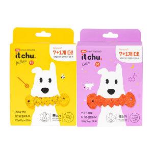 강아지껌 잇츄 2종 SET(옐로우M 8개입+꿀잠츄M 8개입)