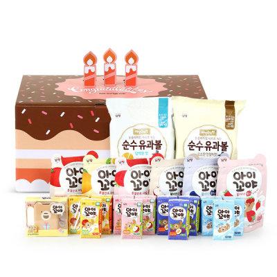 [남양] 아이꼬야 유기농 주스+과자간식 선물세트