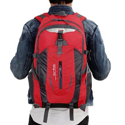 트래킹 방수 등산가방(레드) 경량 스포츠 배낭
