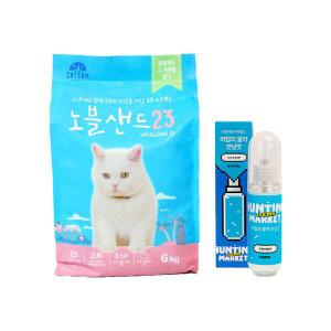 캣썸 노블샌드23 고양이모래(6kg)+캣닢 스프레이
