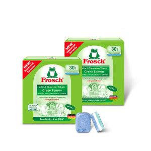 독일 친환경 식기세척기세제 그린레몬 2개SET 60EA