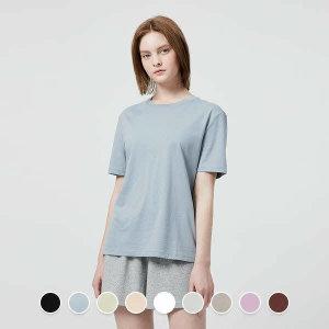 (현대백화점) 지오다노  321515 수피마 크루넥 반팔 티셔츠 05321515