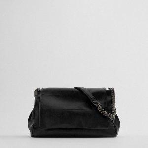 ZARA 자라 락 플랩 숄더백 여성가방 - 블랙