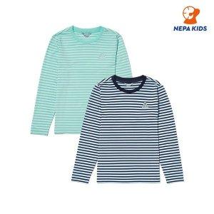 네파키즈/본사 KHD5302 공용 메쉬 스트라이프 티셔츠