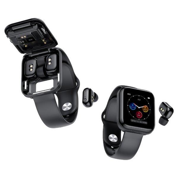 한글패치 2in1 스마트워치+블루투스 이어폰 X5웨어팟