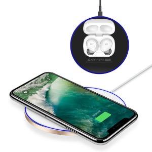 15W 초고속 무선충전패드 LED 필 W2 아이언+ SKY-W2P