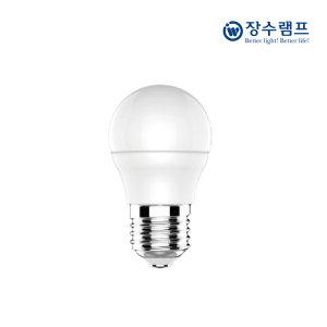 장수램프 LED 인지구 3W 꼬마전구 E26 전구색(노란빛)