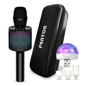 펜톤정품 BM1 듀엣노래방 LED 블루투스 노래방마이크