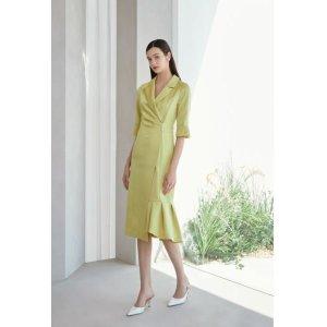 에스블랑 니그마 테일러드 플리츠 드레스 S211A629-EJS