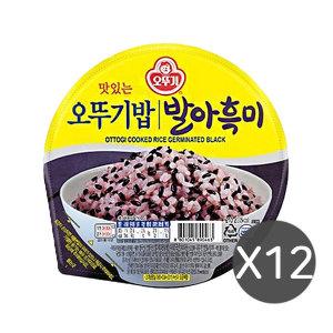 오뚜기 발아흑미밥210g 12입  햇반 오곡  잡곡 현미
