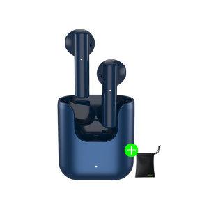 QCY T12S 블루투스 무선 이어폰 블루 파우치증정