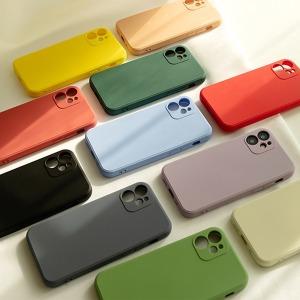 사각 아이폰 실리콘 케이스 7 8 SE2 XS XR 11프로 12
