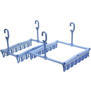 초간편 빨래건조대 빨래사냥쏙쏙 실속형7 대자 (블루)