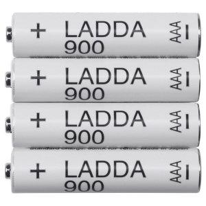 LADDA 라다 충전지/충전 건전지 AAA1.2V 4개 충건전지
