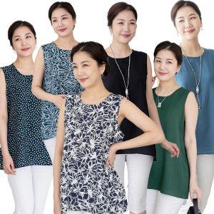 우일 여성 여름 인견 민소매 나시티셔츠/엄마옷 상의