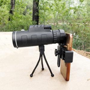40배 망원경 세트 삼각대 스마트폰망원경