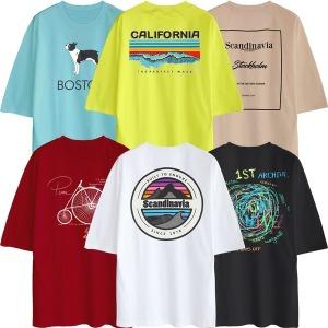 반팔티 티셔츠 오버핏 박스티 남자남성 여성 남녀공용