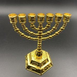 이스라엘 유대인 기독교 수공예 일곱 금 촛대
