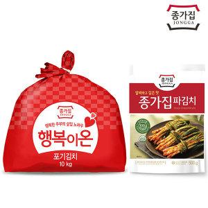 종가집 행복이온 포기김치 10kg + 파김치 500g (증정)