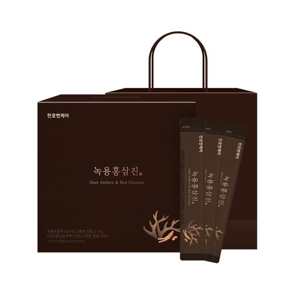 녹용홍삼진 스틱 60포 선물세트 +쇼핑백