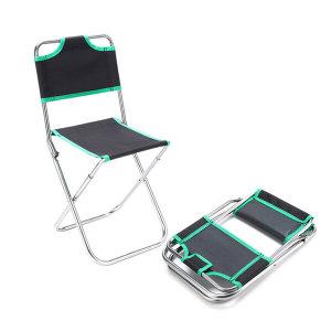 등받이 등산의자 휴대용 캠핑의자 랜덤색상 /캠핑