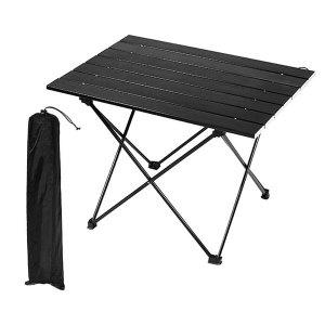 블랙 경량 롤테이블 미디움 + 전용가방 포함 /캠핑