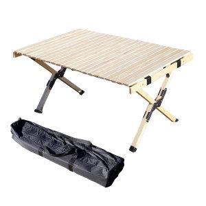 럭셔리 원목 롤테이블 900 + 전용가방 포함 /캠핑