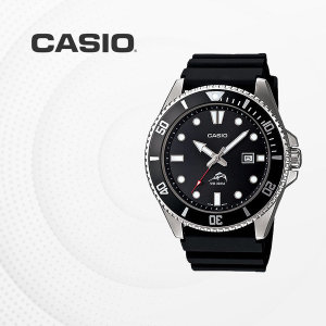 CASIO 패션 손목시계 흑새치 다이버시계 우레탄시계 패션아이템 MDV-106-1A