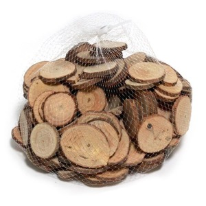그리기나무 원형/구멍없음 1kg 천연나무조각