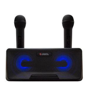 블루투스 듀엣 2개 마이크 노래방 20W+충전기
