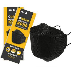 KF80 엠플러스 황사마스크 블랙 위생 보건 먼지마스크