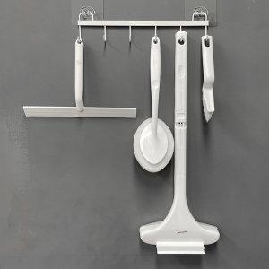 모던화이트 욕실청소 5종세트 걸이대포함
