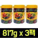 쥬시 스트로우 과일맛 젤리 817g x 3팩/젤리스틱