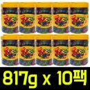 쥬시 스트로우 과일맛 젤리 817g x 10팩/트로피칼바