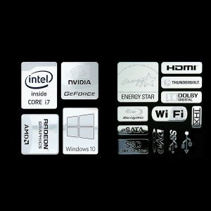 노트북 데코 메탈스티커/PC 스티커/데스크탑 스티커