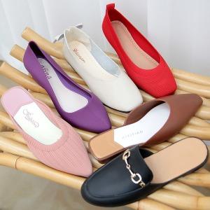 여성 플랫슈즈 로퍼 단화 블로퍼 슬링백 뮬 구두 신발