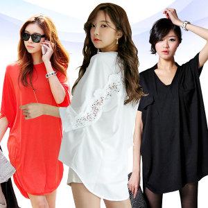 여름 여성 박스 티셔츠/롱/빅사이즈/루즈핏/나시/반팔
