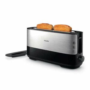 (현대Hmall)필립스 비바 컬렉션 메탈 앤 블랙 와이드 토스터기 HD2693/90 토스트기