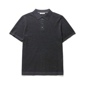 올젠  남성 프리미엄 슬릿 카라 스웨터 반팔 티셔츠(ZOB2ET1301)