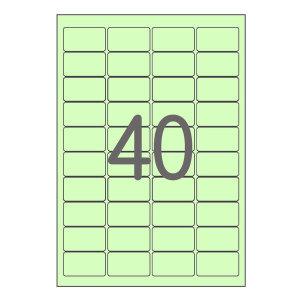 A4 컬러 라벨지 40칸(4x10) 초록 100매 폼텍규격 호환