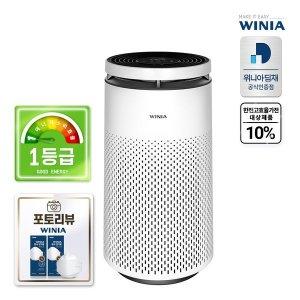 포토리뷰마스크증정  위니아 1등급 360도 광역청정 공기청정기 EPA30E0TEW  100.2㎡  퓨어플렉스