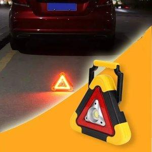 LED 충전식 안전삼각대 자동차 비상 삼각대 투광기 비