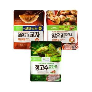 풀무원 매운만두세트(김치+매콤해물+청고추 각2봉)