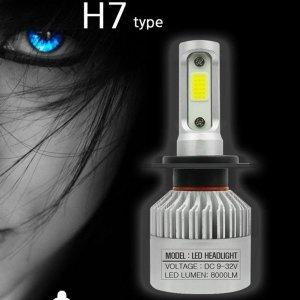 오토바이 전조등 전구 LED 벌브 헤드 라이트 H7 오토