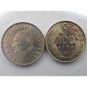 터키 100 Lira 1987년 UNC KM967