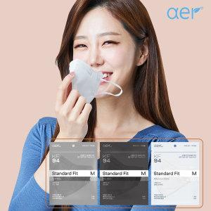 아에르 KF94 스탠다드핏 마스크 50매